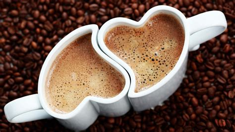 coffee wallpaper we heart it coffee in heart shaped cups hd hd love wallpapers for
