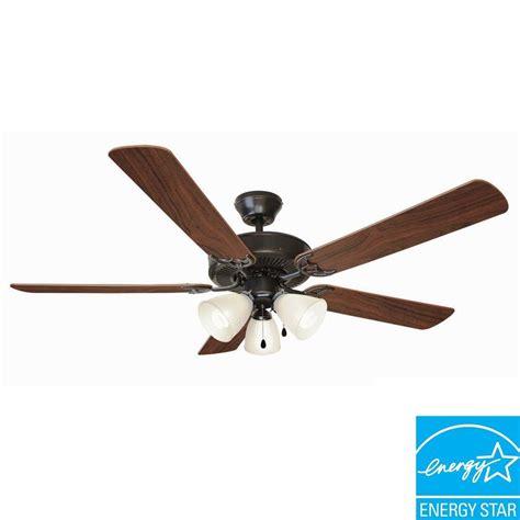 design house ceiling fans design house millbridge 52 in oil rubbed bronze energy