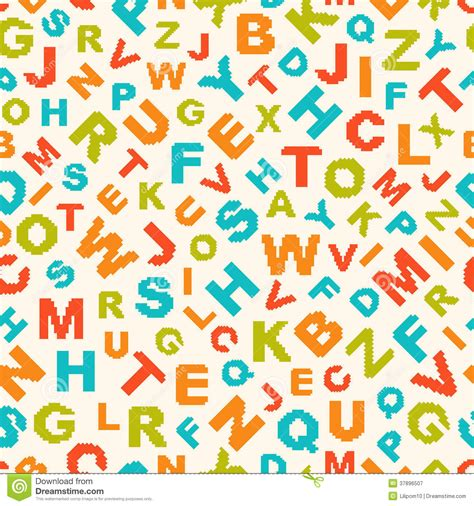 pattern design letter seamless pattern with letters of alphabet stock vector