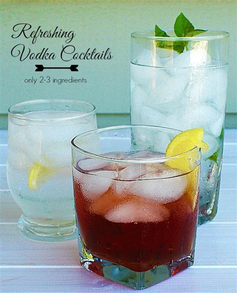 refreshing and simple vodka cocktails balancing motherhood