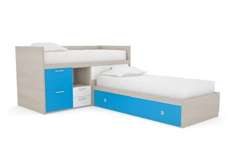 l shaped bed corner bed shaped cabin bed with storage