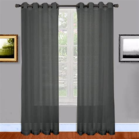 extra long grommet curtains warm home designs extra long charcoal grey sheer window