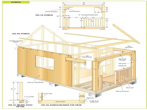 Cabin Plans by Free Diy Cabin Plans Free Cabin Plans Bunkie Plans