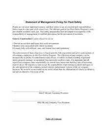 Company Driving Policy Template by Sle Fleet Safety Program
