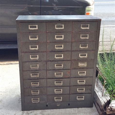 Multi Drawer Metal Cabinet by Vintage Cole Steel Machinist Cabinet Cityfoundry