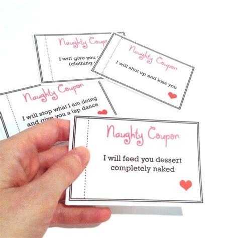 sexual challenges for your coupon book coupons last minute gift for