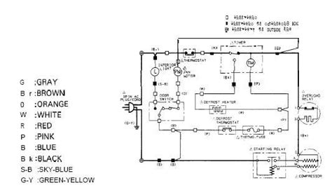 no refrigerator wiring diagram 36 wiring diagram