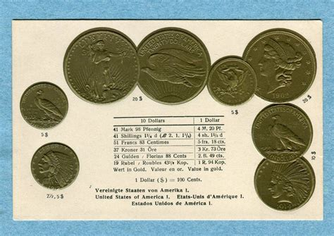 United Gift Card Exchange Rate - a2782 coin postcard coins of the united states of america exchange rates ebay