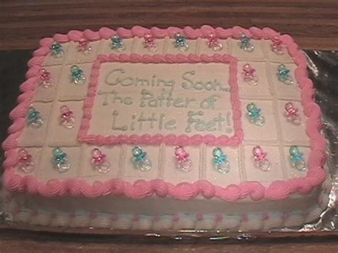Basic Cake Decorating Simple Baby Cakes Very Simple Baby Shower Cake The