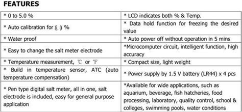 Digital Salt Meter Kedida Ct 3088 Tester Cepat Salinity compre 0c 50c salin 244 metro port 225 til tipo de caneta salin 244 metro digital medidor de laborat 243 de