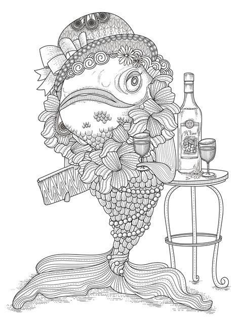 coloring pages fish for adults an coloring page of a fish from the gallery