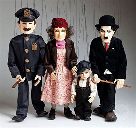 Handmade Marionettes - chaplin whole collection of handmade marionettes