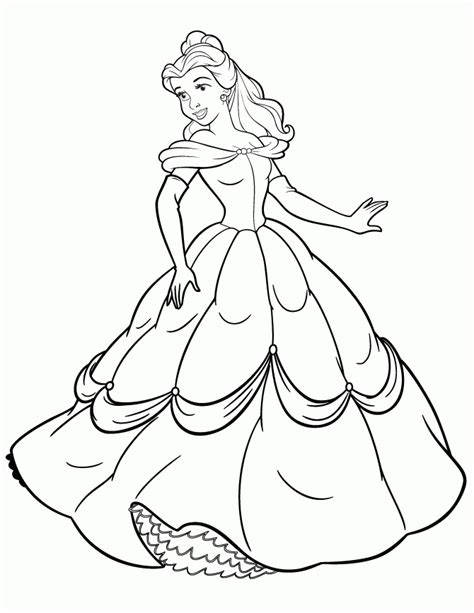 Disney Princess Printable Coloring Pages Widescreen Color Pages Of Princess Printable