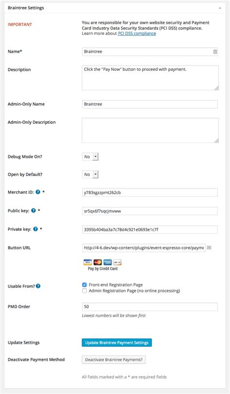 Credit Card Form Braintree Braintree Payment Gateway For Event Espresso Paypal Credit Cards