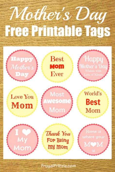 free printable quote tags mothers day gift tag printable craftbnb