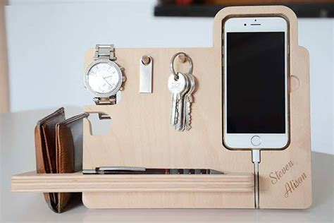 Pen Stand For Desk The Handmade Wooden Docking Station For Iphone 7 Plus 6 5