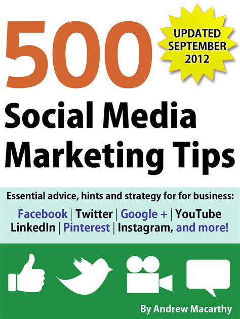 500 social media marketing tips essential advice hints and strategy for business instagram linkedin and more books book review 500 social media marketing tips state of
