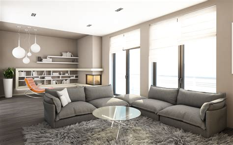 wohnzimmer deco picture living room high tech style interior rug sofa