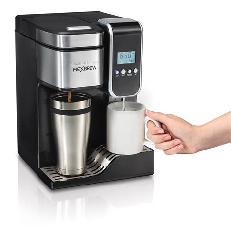 Amazon.com: Hamilton Beach Single Serve Coffee Maker, Programmable FlexBrew with Hot Water