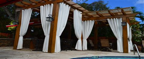 pergola curtain ideas outdoor curtains pergola