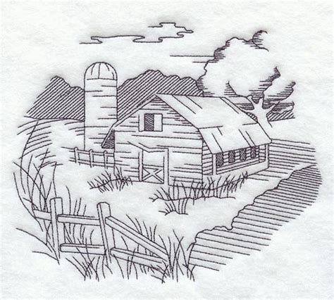 country landscape coloring page free country farm coloring pages