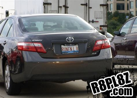 Ideas For Vanity Plates Toyota Camry Runninglate Shouldhavethoughtofitfirst