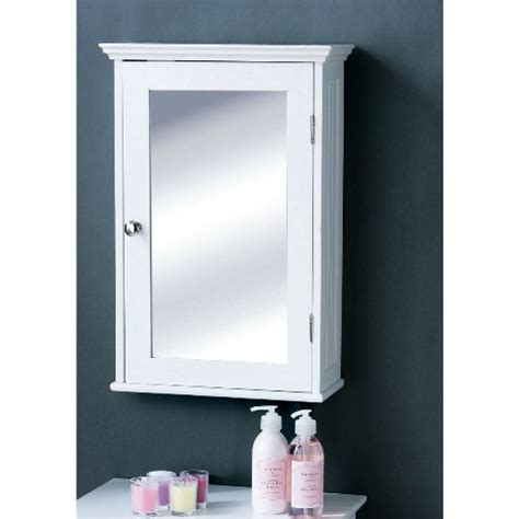 Wooden Mirrored Bathroom Cabinets | bathroom cabinet in white wood with a mirrored door