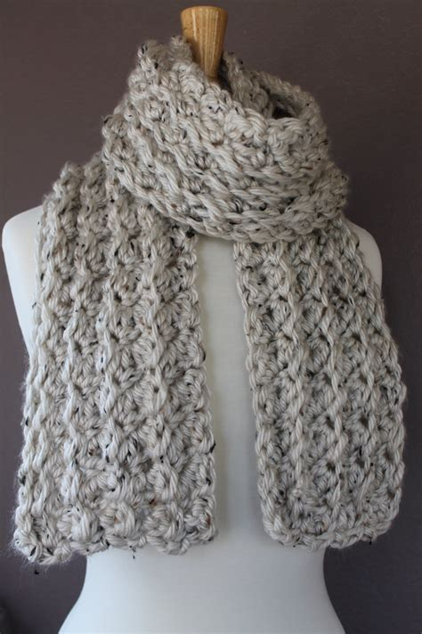 chunky crochet scarf pattern crafty mn