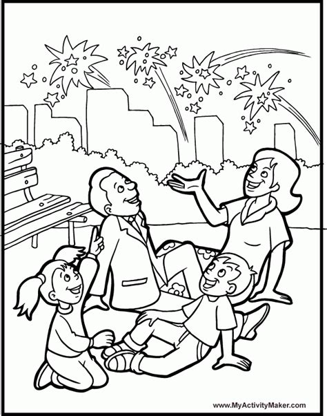 family day coloring page fireworks coloring page az coloring pages