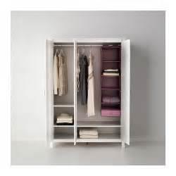 brusali wardrobe with 3 doors white 131x190 cm ikea