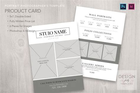 Price Product 5x7 Card Template For Adobe Indesign Cs4 Card Templates For Photoshop Cs5