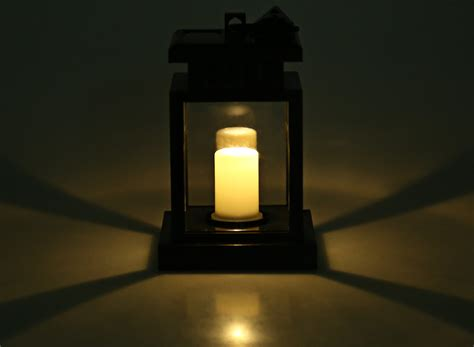 solar led candle l solar powered led outdoor candle lantern hang l sau ebay