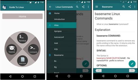 learn android linux command line shell 7 top free apps to learn linux unix command line shell on android phone