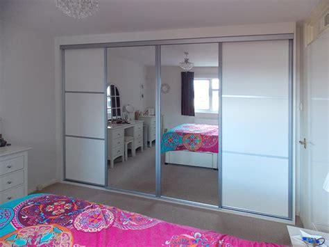 fitted white aluminium mirrored sliding wardrobe peter