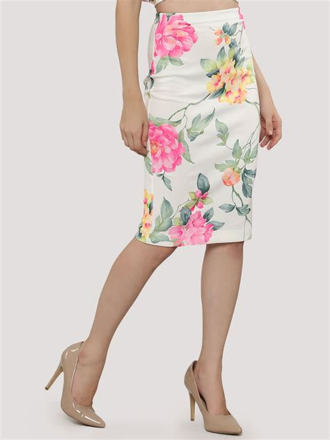 buy nobody s child floral print pencil skirt for