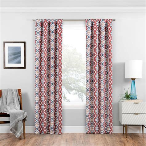 red eclipse curtains eclipse blackout wallace 95 in l crimson rod pocket