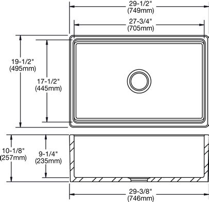 Farm Sink Dimensions by Elkay Swuf28179wh Explore 29 7 8 Quot Undermount Fireclay