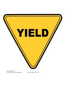 what color is a yield sign printable yield sign