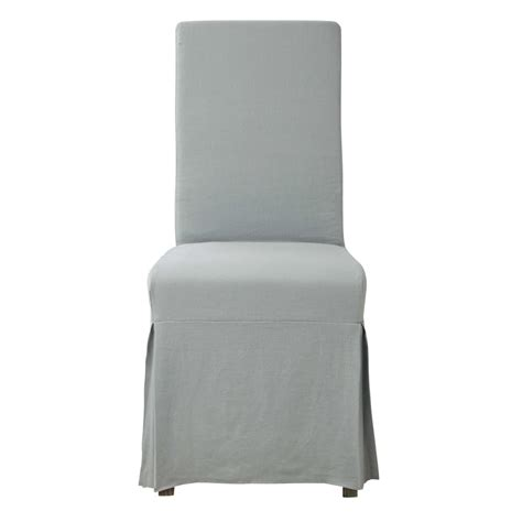 fodere sedie maison du monde fodera lunga ghiaccio in lino per sedia margaux
