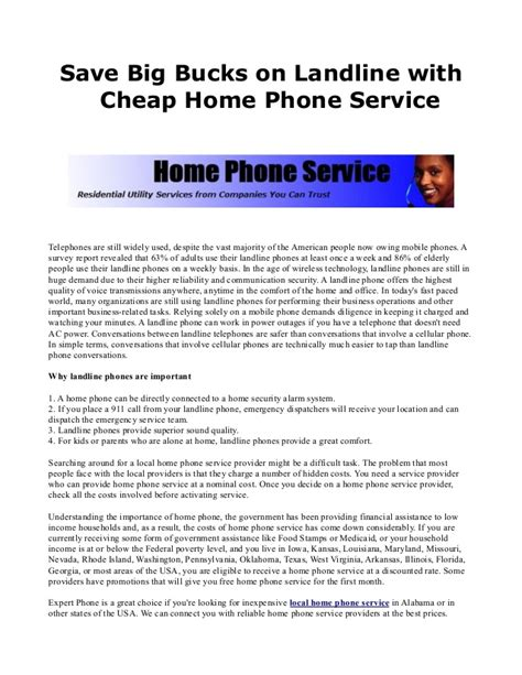 save big bucks on landline with cheap home phone service