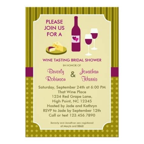wine and cheese bridal shower invitation wording wine tasting s bridal shower invitation zazzle