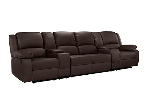sofa home theater the search for perfect home theater red barrel studio 4 seat home theater sofa with cup holder