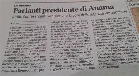 confesercenti pavia massimo parlanti eletto nuovo presidente provinciale anama