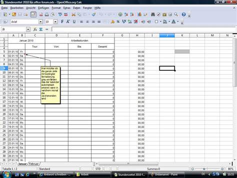 Kã Ndigen Vorlage Ewiger Kalender Mit Stundenberechnung Office Loesung De