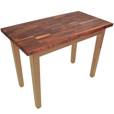boos table boos walnut country work table kitchensource