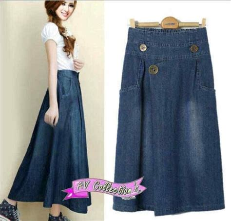 Rok Panjang Wanita Gesy Skirt rok keren v843