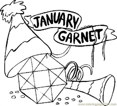 january coloring pages printable free coloring pages of garnet