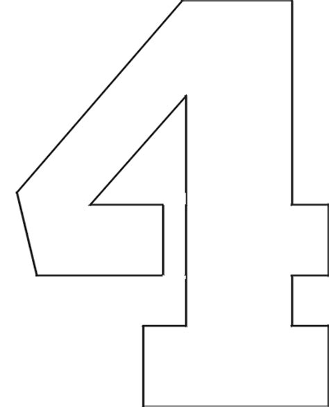 printable big number stencils 6 best images of big printable number 4 large number 4