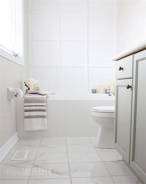 Bathroom Tile Floor Ideas For Small Bathrooms the final reveal a sophisticated ensuite bathroom pink