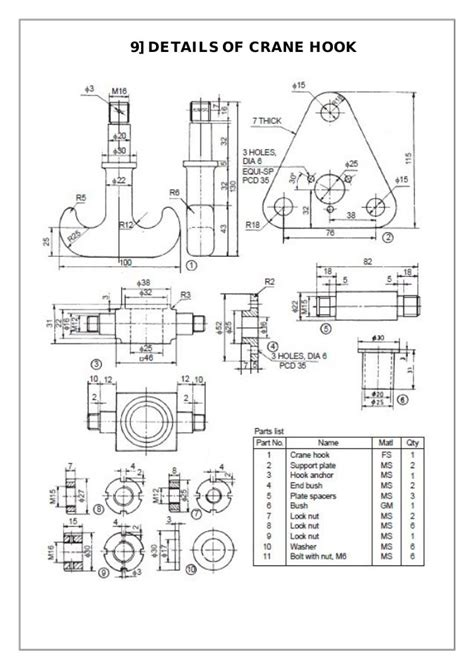 assembly  details machine drawing  solidworks mechanical design mechanical